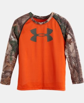 Boys' Pre-School UA Real Tree LS T-Shirt