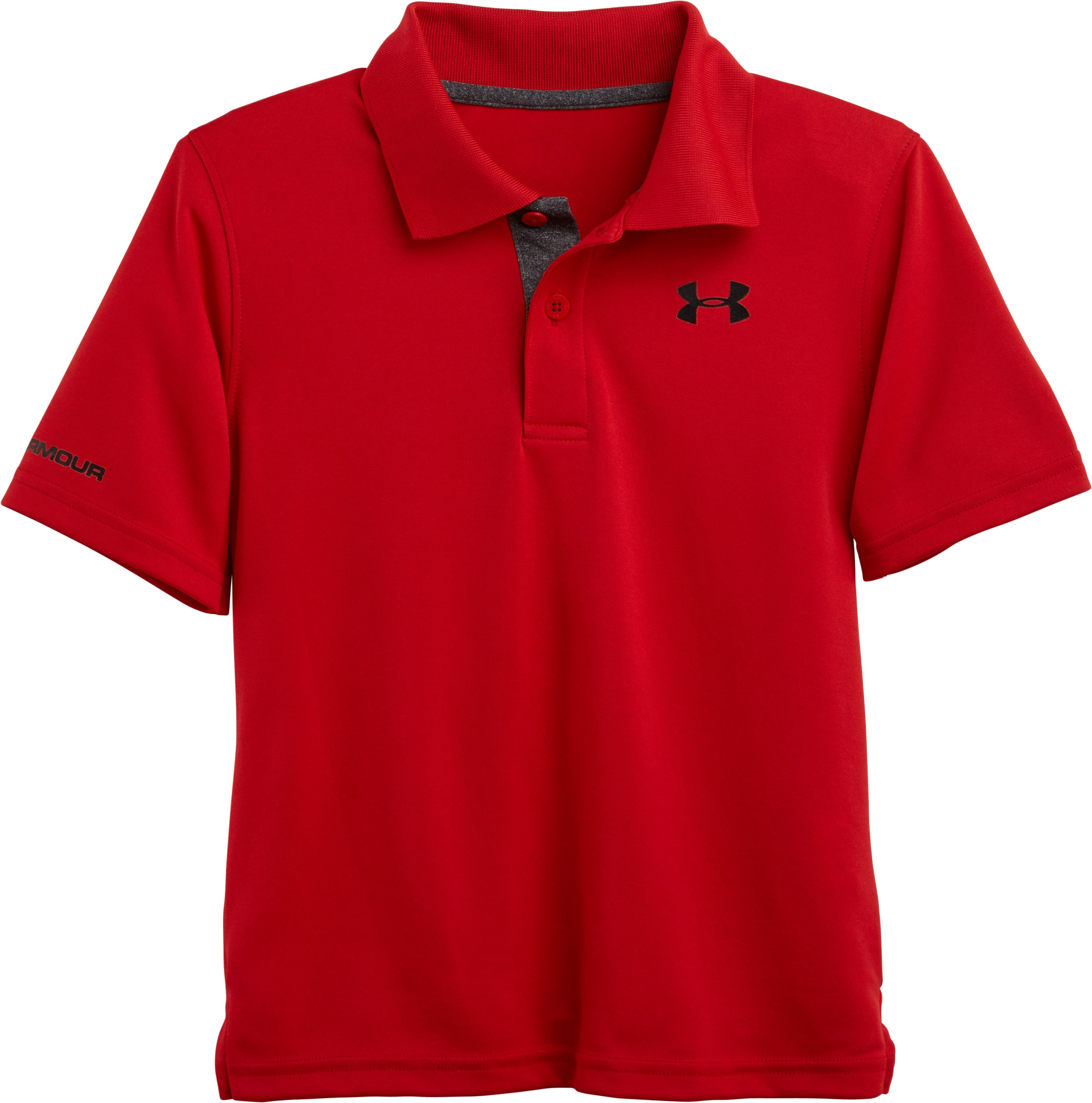 Boys' Pre-School UA Match Play Polo, Red, zoomed image