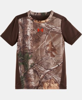 Boys' Pre-School UA Real Tree Stealth T-Shirt