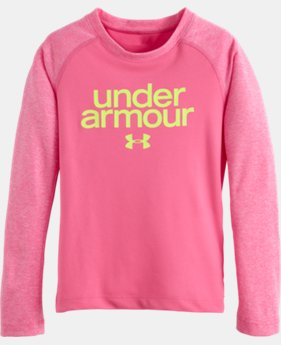 Girls' Pre-School UA Comingled Raglan