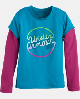 Girls' Pre-School UA Slider Long Sleeve LIMITED TIME: FREE U.S. SHIPPING 1 Color $20.99