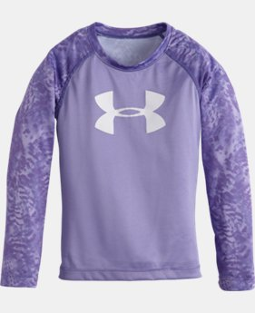Girls' Pre-School Feather Camo UA Big Logo Raglan