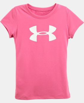 Girls' Pre-School UA Big Logo Short Sleeve