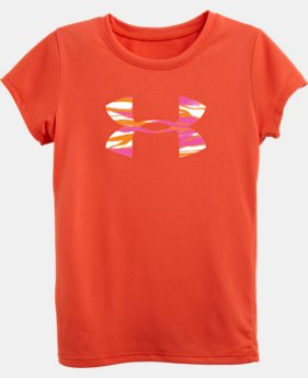 Girls' Pre-School Fire Topo UA Big Logo Short Sleeve