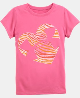 Girls' Pre-School UA Zebra Heart T-Shirt
