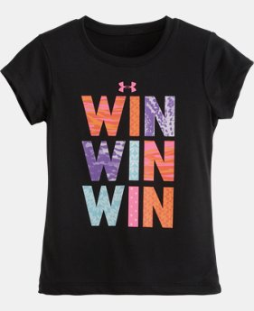 Girls' Pre-School UA Win T-Shirt