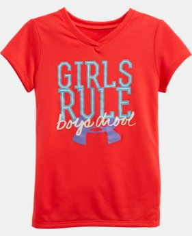 Girls' Pre-School Glow-In-The-Dark UA Girls Rule T-Shirt
