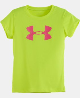 Girls' Pre-School UA Big Logo Glitter T-Shirt