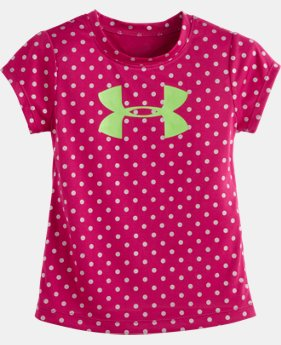 Girls' Pre-School UA Big Logo Shimmer Dot Short Sleeve