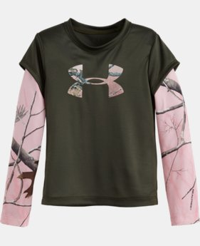 Girls' Pre-School UA Camo Big Logo Long Sleeve  1 Color $26.99