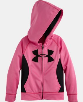 Girls' Pre-School UA Big Logo Full Zip Hoodie