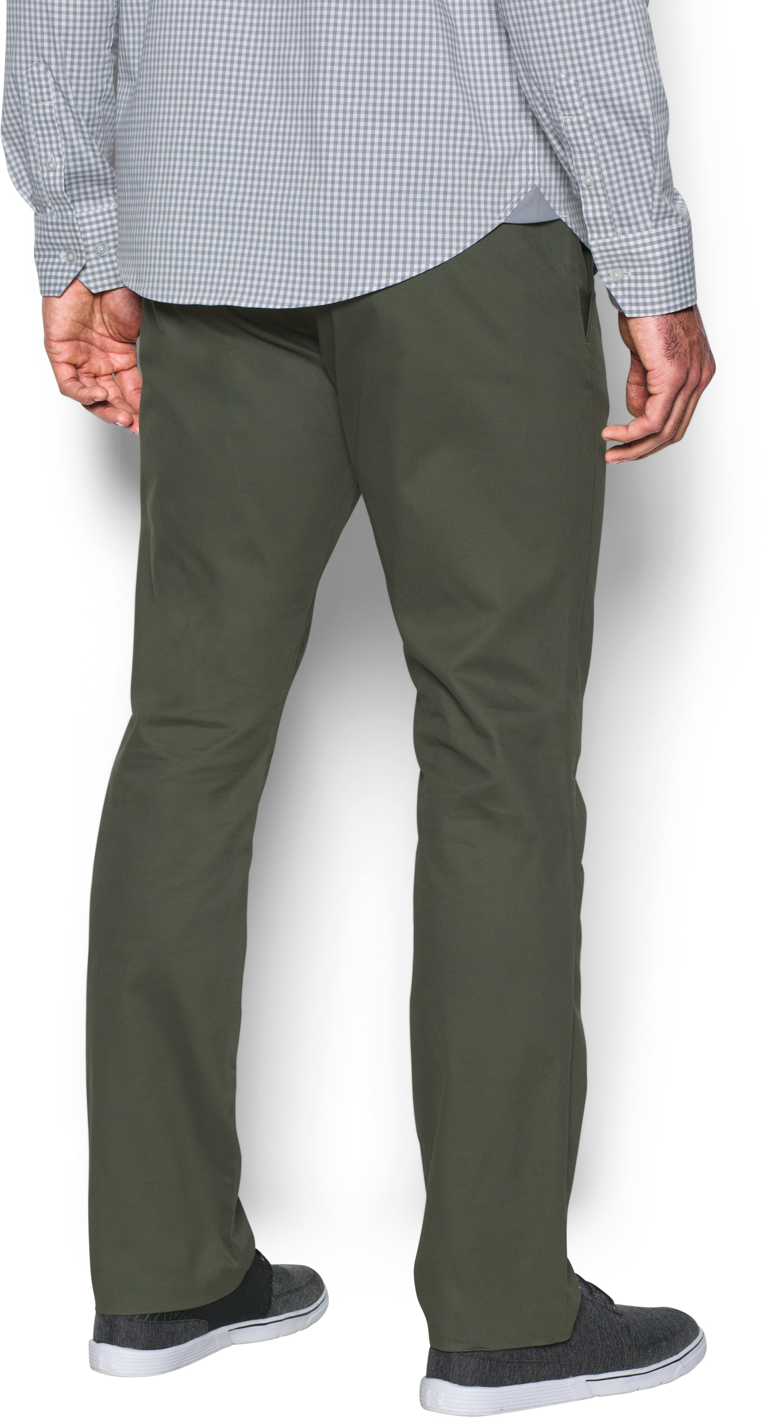 Men's UA Performance Chino — Tapered Leg, DOWNTOWN GREEN, undefined