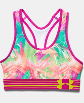 Girls' UA HeatGear® Armour Printed Bra