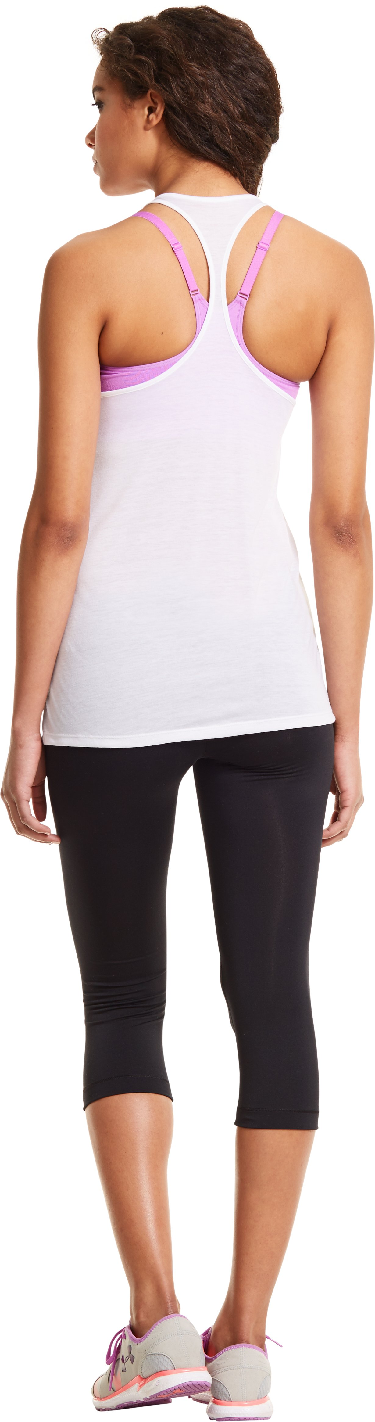 Women's UA Gym Tank, White, Back
