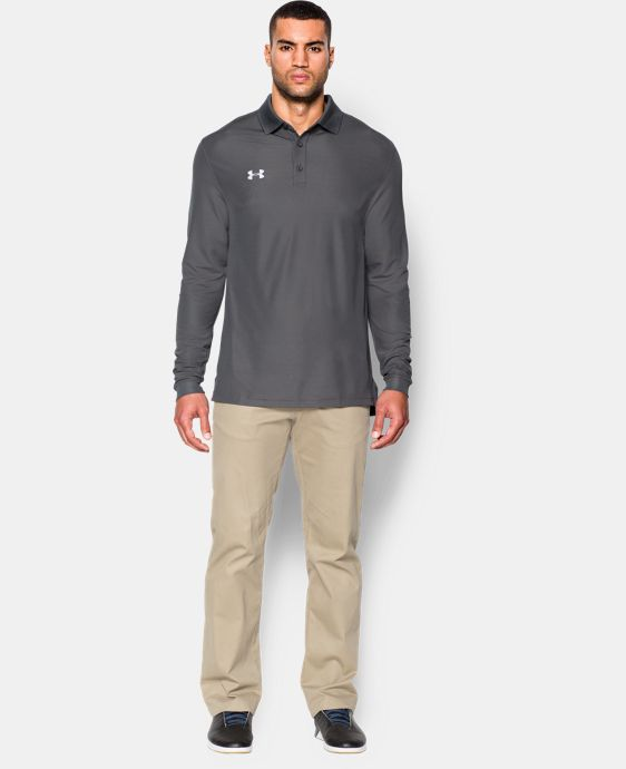 Men's UA Performance Long Sleve Polo  2 Colors $64.99