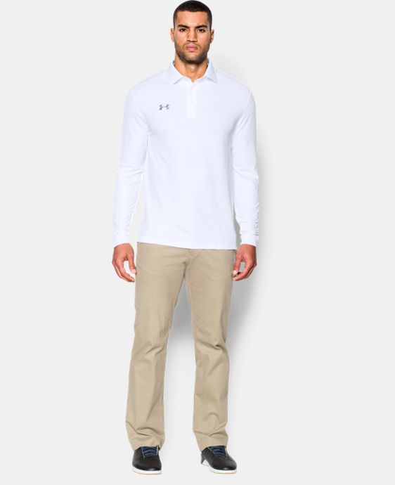 New to Outlet Men's UA Performance Long Sleeve Polo   $41.99