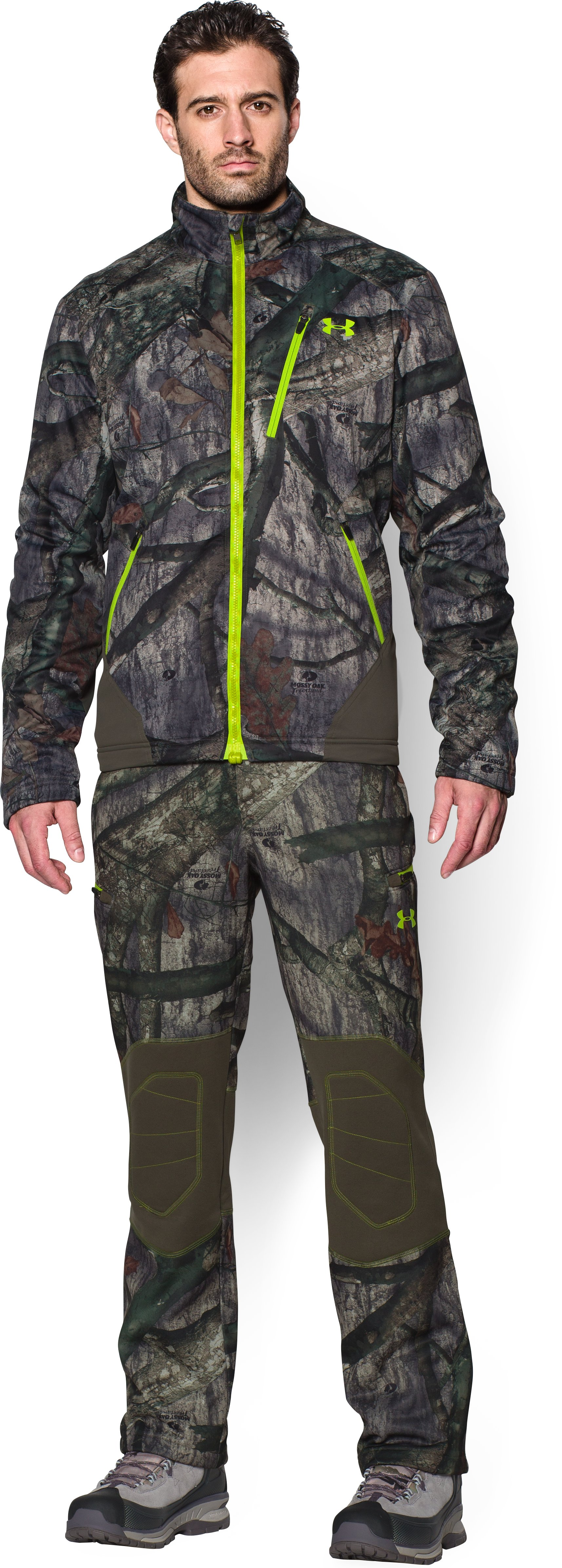 Men's UA ColdGear® Infrared Scent Control Pants, Mossy Oak Treestand