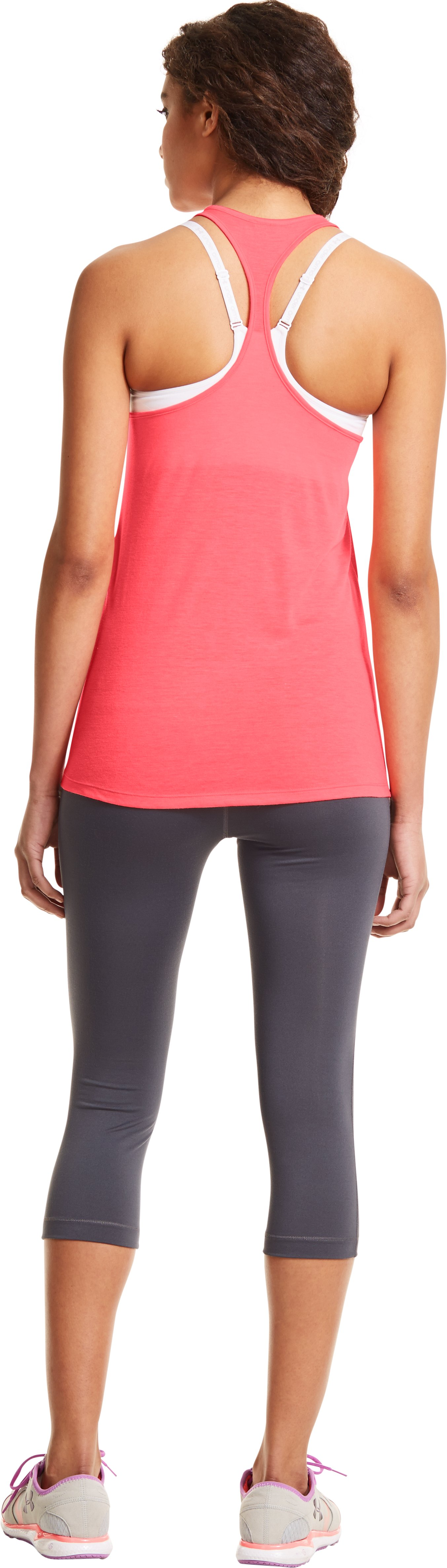 Women's Under Armour® Big Logo T-Back Tank, BRILLIANCE, Back