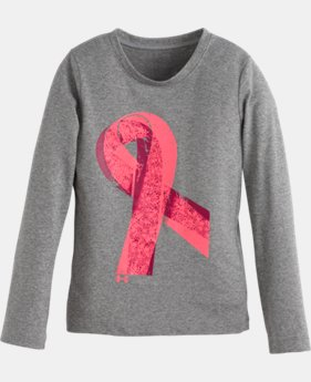 Girls' Pre-School UA Power In Pink® Ribbon Long Sleeve