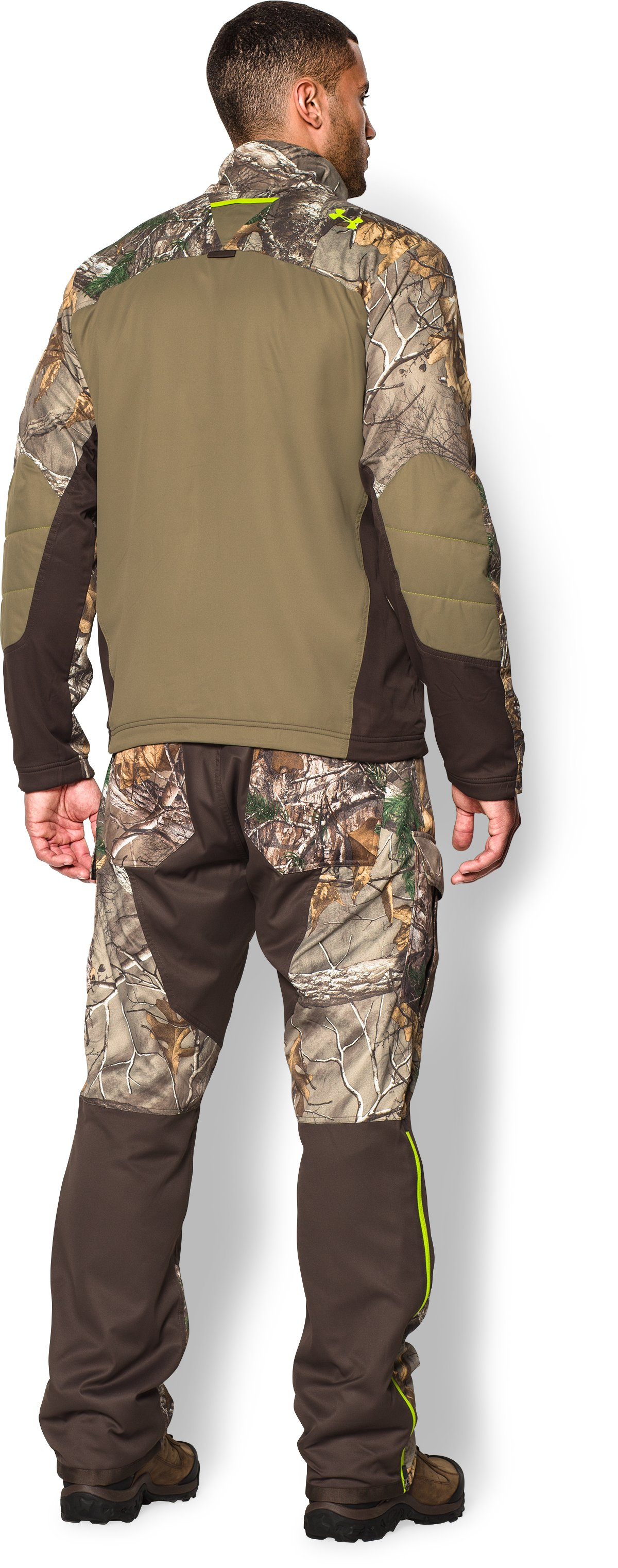 Men's UA Storm Scent Control Barrier Jacket, REALTREE AP-XTRA, Back
