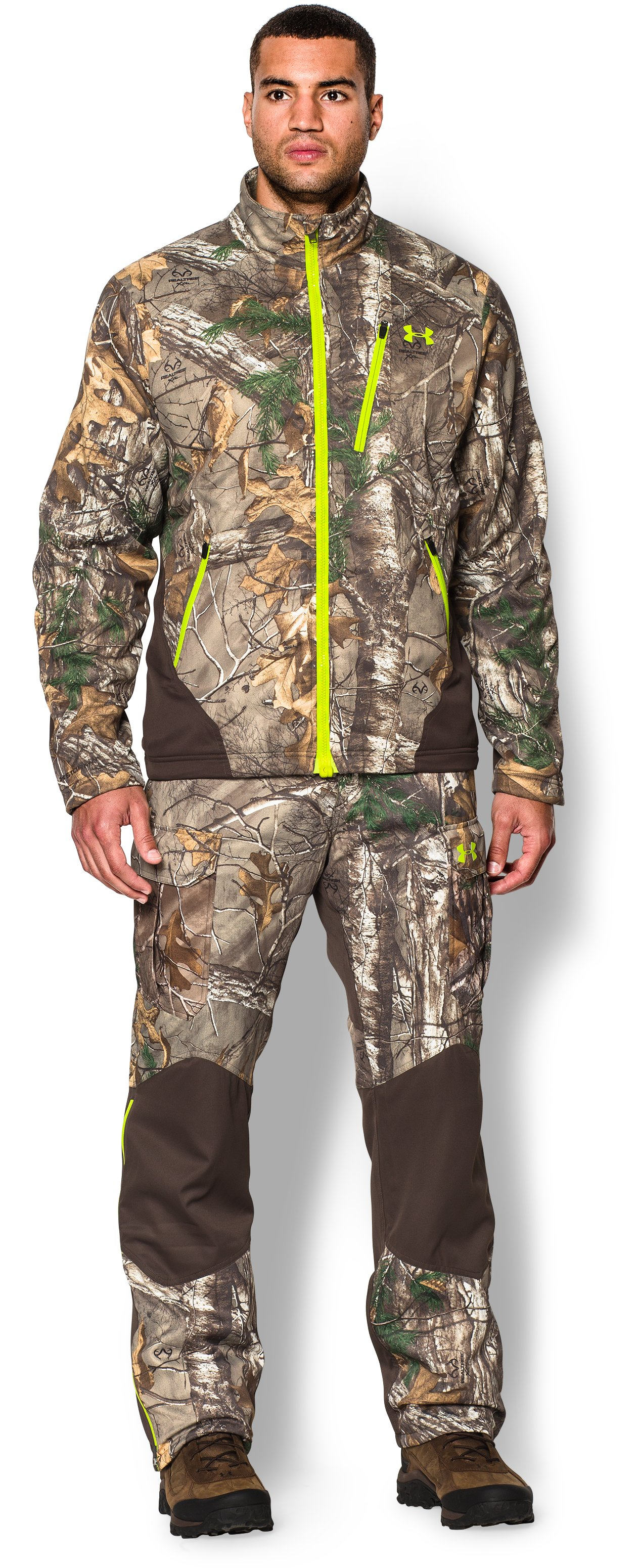 Men's UA Storm Scent Control Barrier Jacket, REALTREE AP-XTRA, zoomed image