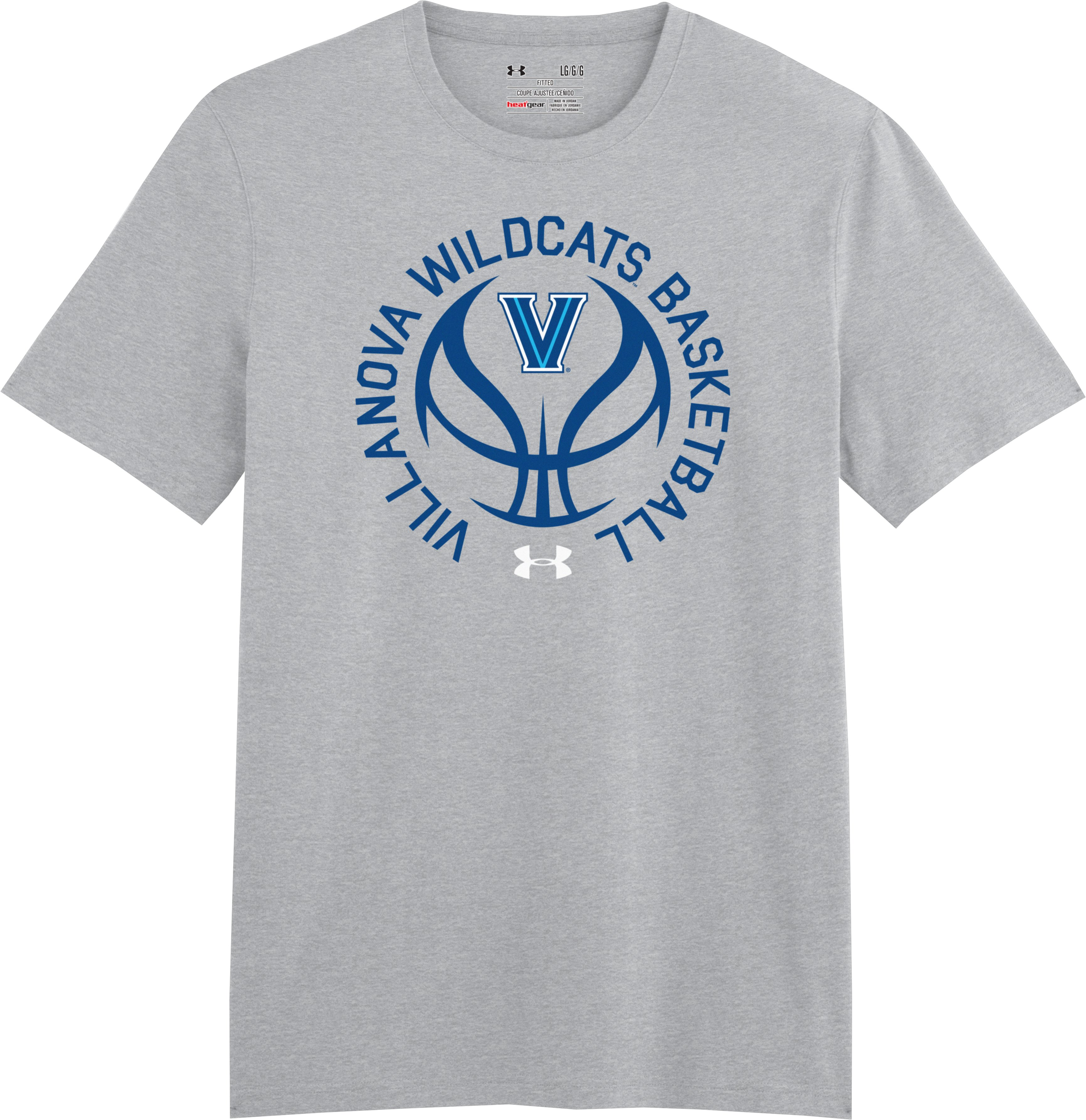 Men's Villanova UA Basketball T-Shirt, True Gray Heather, Laydown