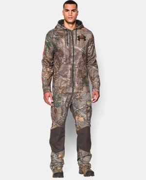 Men's UA ColdGear® Infrared Scent Control Caliber Camo Hoodie LIMITED TIME: FREE U.S. SHIPPING  $94.99