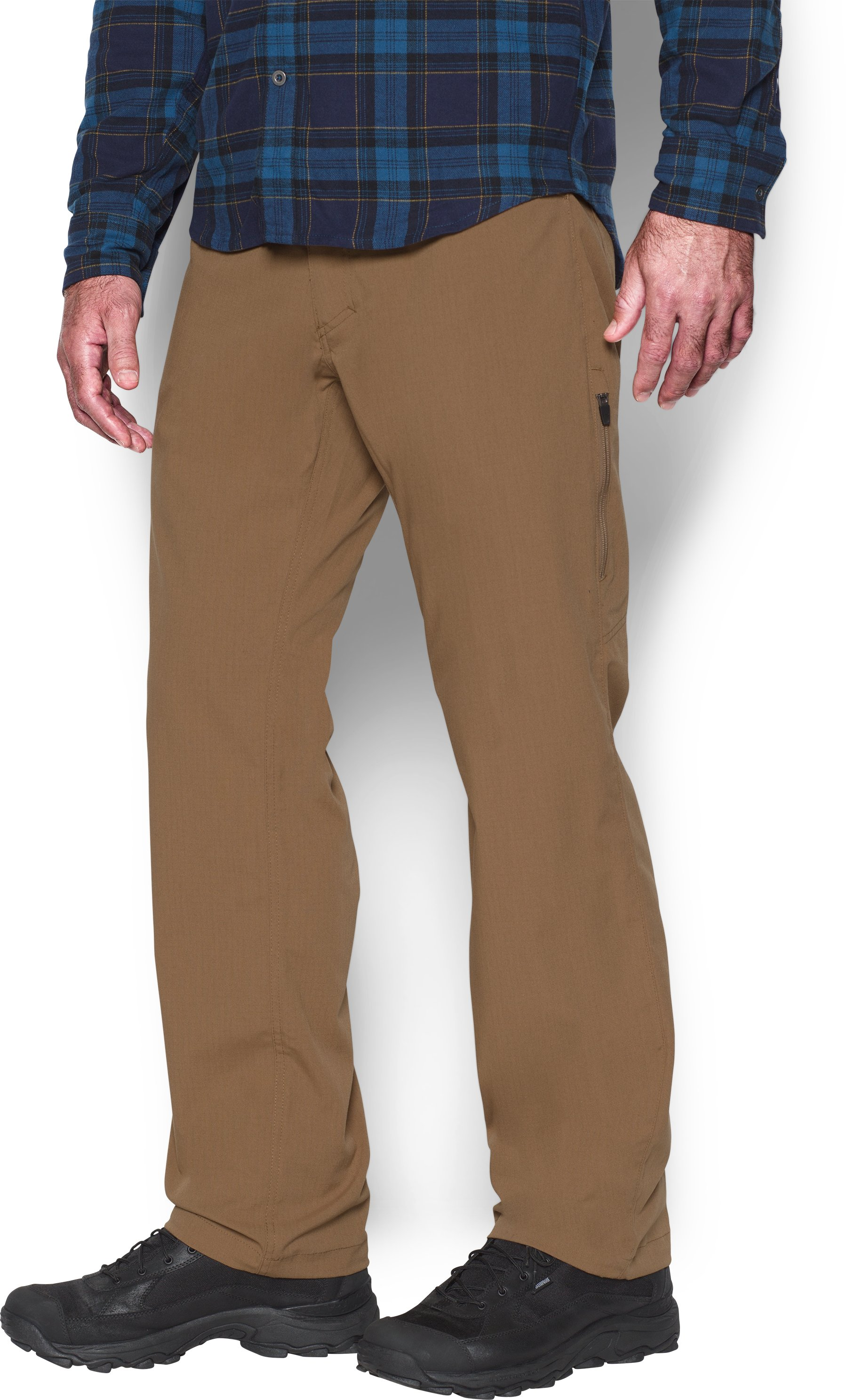 Men's UA Storm Covert Tactical Pants, Saddle, zoomed image