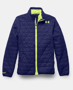 Girls' UA ColdGear® Infrared Hillcrest Hooded Shell