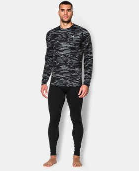 Men's UA ColdGear® Armour Printed Crew