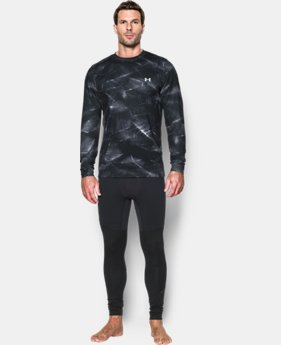 New Arrival  Men's UA ColdGear® Armour Printed Crew LIMITED TIME: FREE SHIPPING 2 Colors $69.99