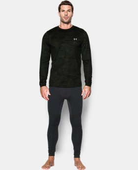 Men's UA ColdGear® Armour Printed Crew LIMITED TIME: FREE SHIPPING 1 Color $52.99