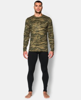 Men's UA ColdGear® Armour Printed Crew  1 Color $42.99 to $44.99
