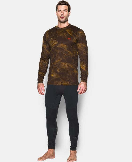 Men's UA ColdGear® Armour Printed Crew LIMITED TIME: FREE U.S. SHIPPING 1 Color $44.99