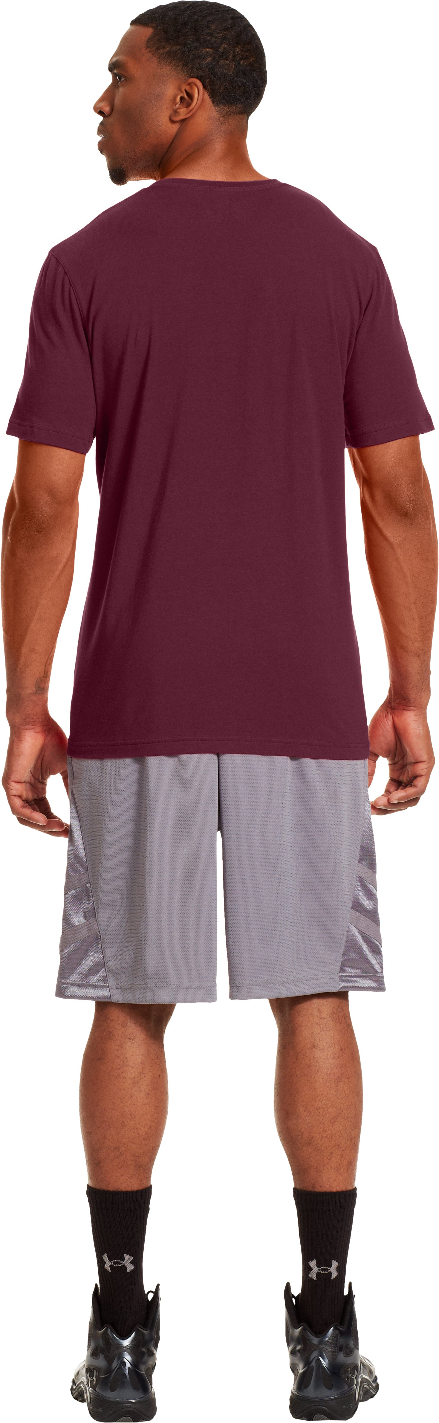 Men's Massachusetts UA Basketball T-Shirt, Maroon, Back