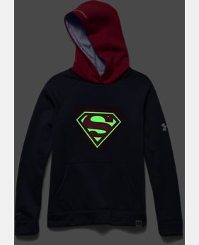 Boys' Under Armour® Alter Ego Superman Glow-In-The-Dark Storm Hoodie