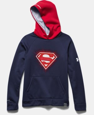Boys' Under Armour® Alter Ego Superman Glow-In-The-Dark Storm Hoodie LIMITED TIME: FREE U.S. SHIPPING 1 Color $54.99