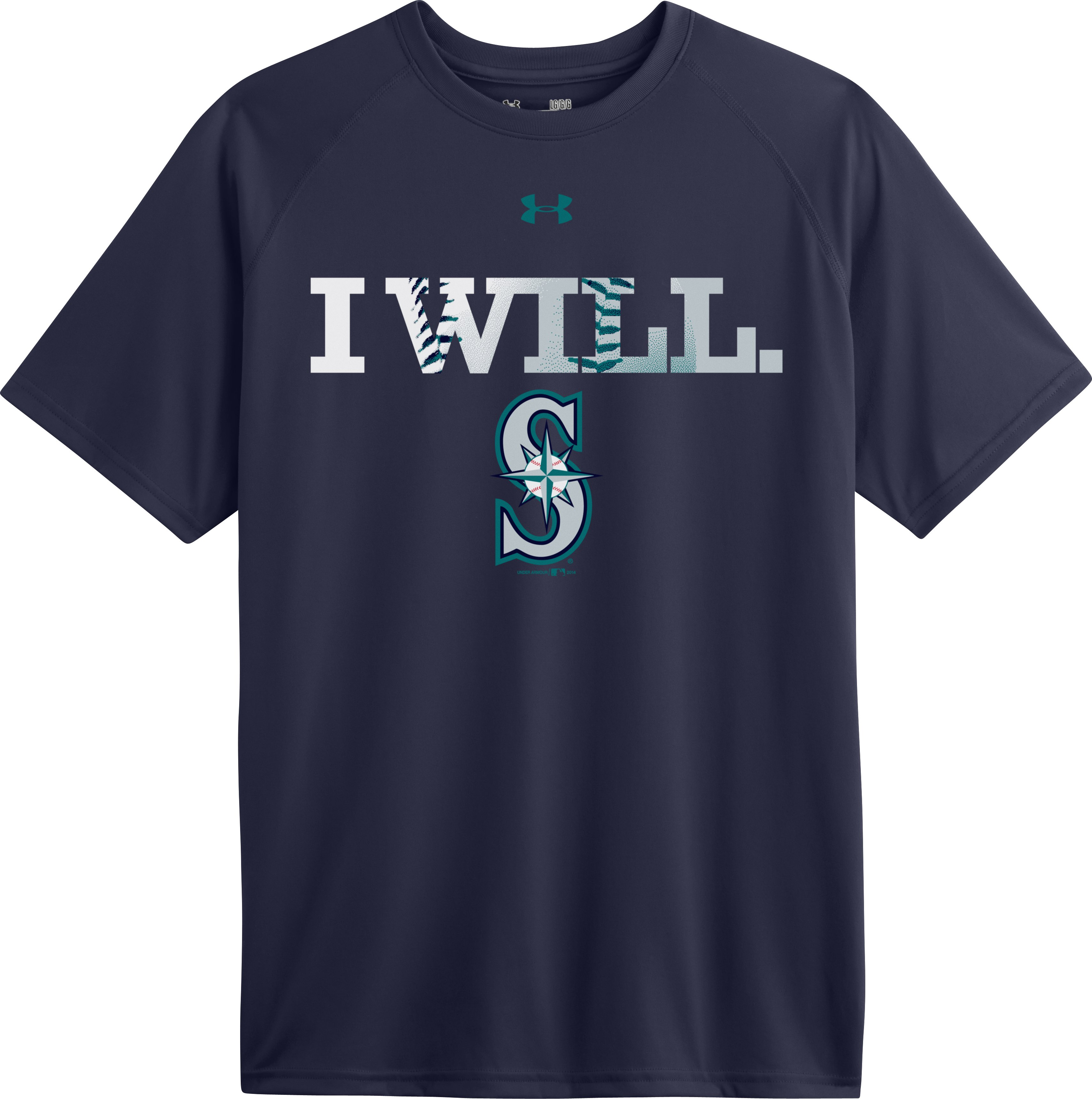 Men's Seattle Mariners UA Tech™ T-Shirt, Midnight Navy, Laydown