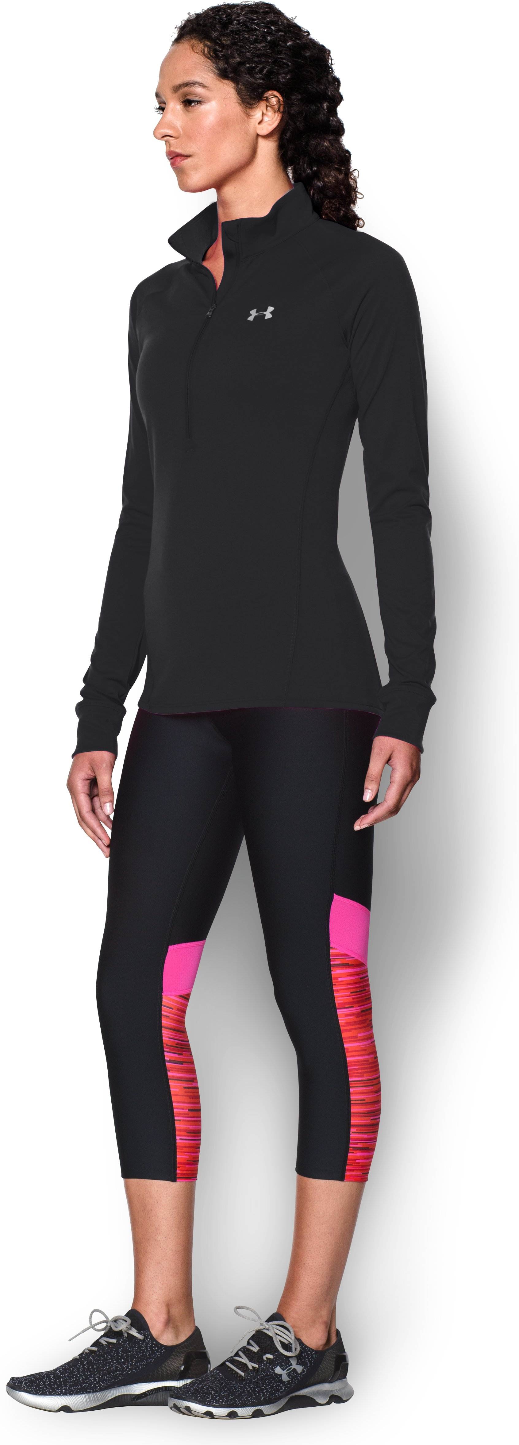 Women's UA Tech™ ¼ Zip, Black
