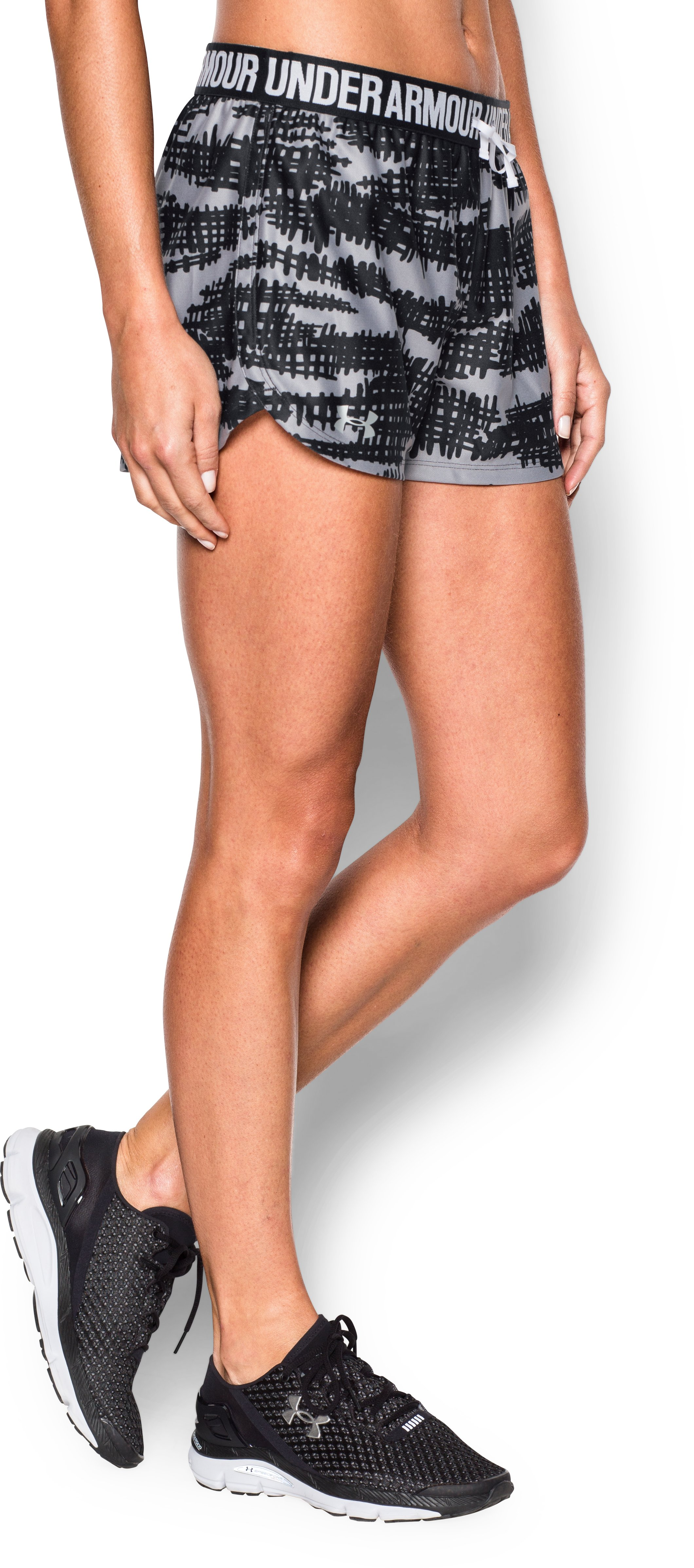Women's UA Play Up Short - Graphic, Black ,