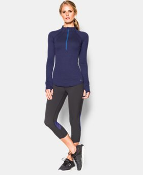 Women's UA Charged Wool ½ Zip   $104.99