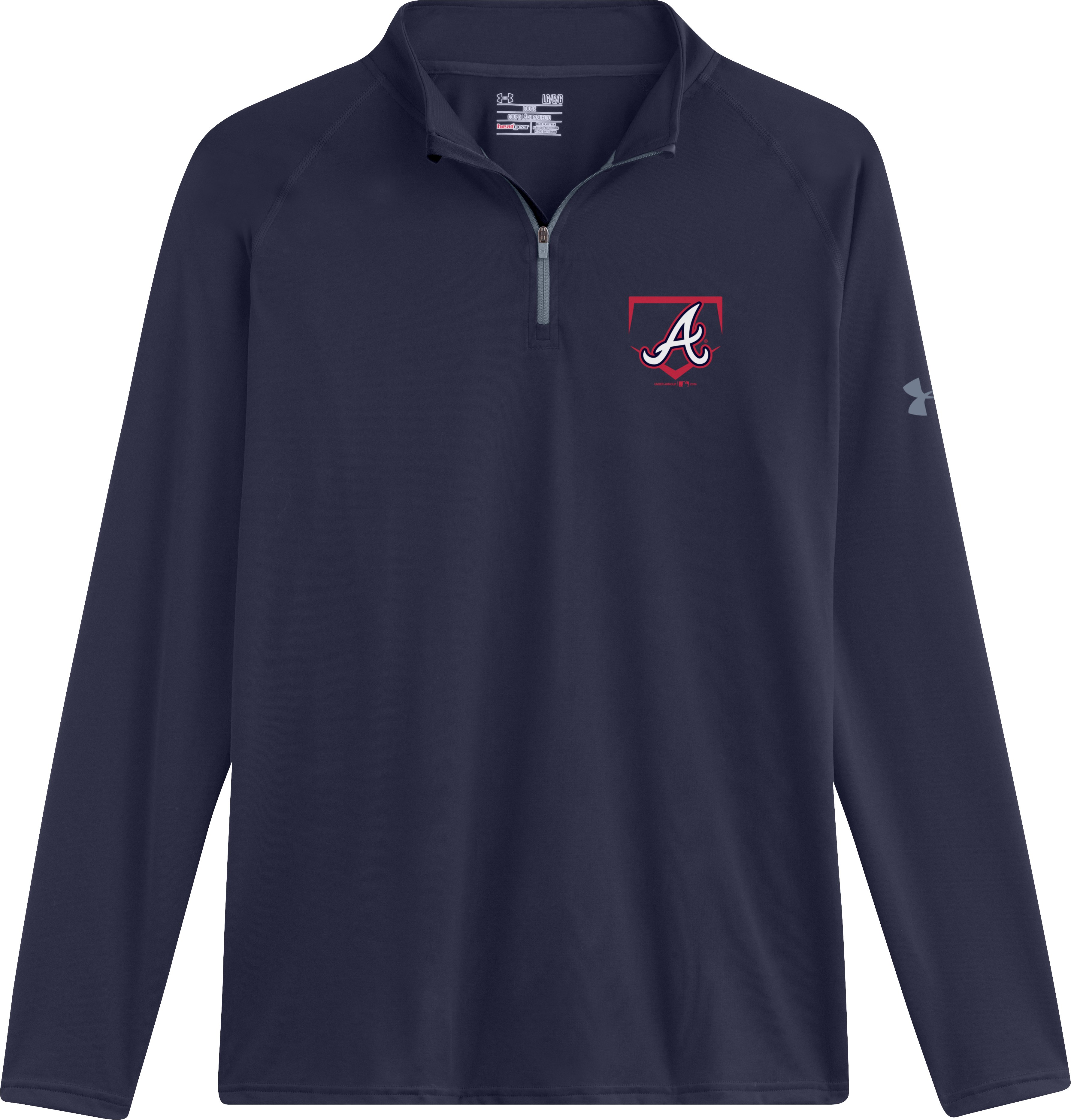 Men's Atlanta Braves UA Tech™ ¼ Zip, Midnight Navy, Laydown