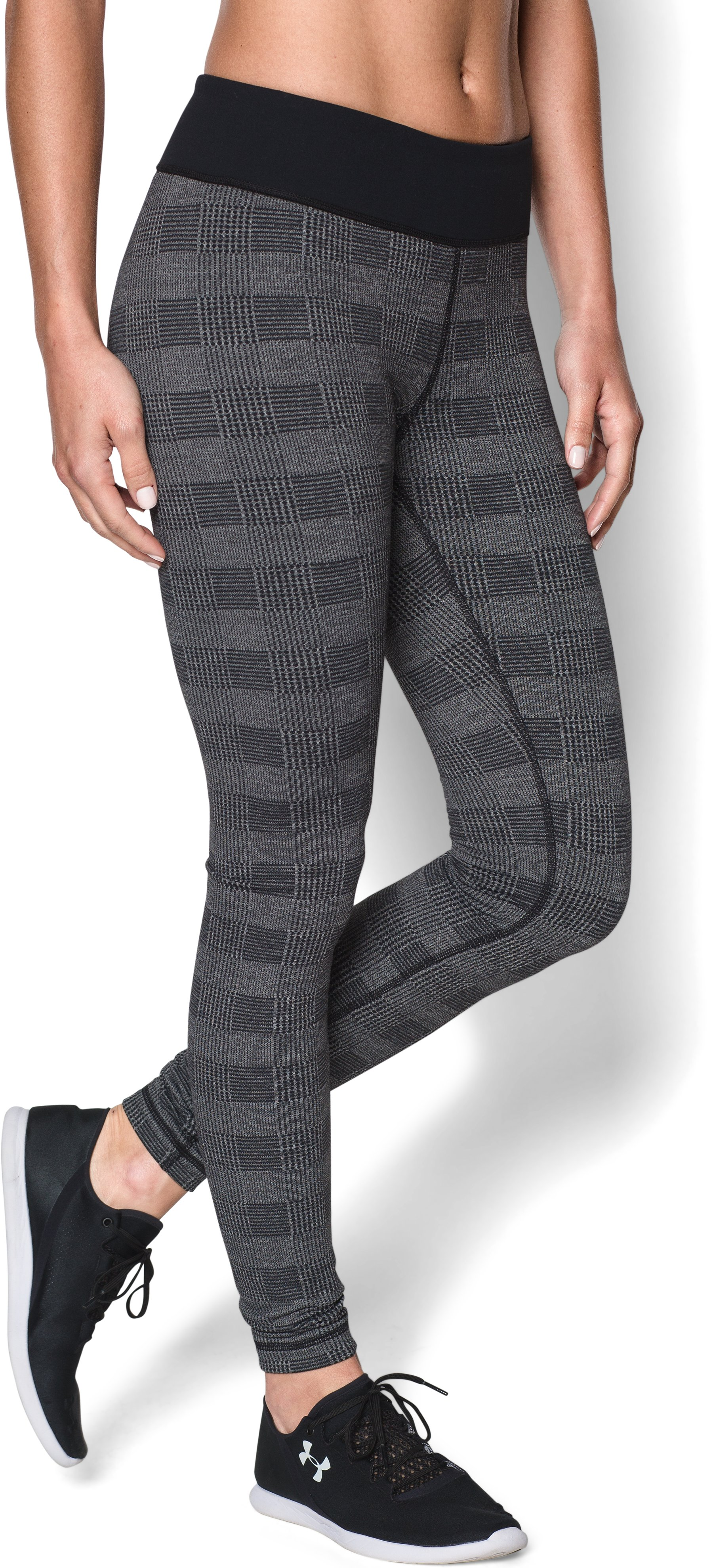 Women's UA Menswear Plaid , Black