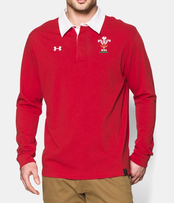 men s wru long sleeve rugby polo under armour ca