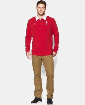 Men's WRU Long Sleeve Rugby Polo