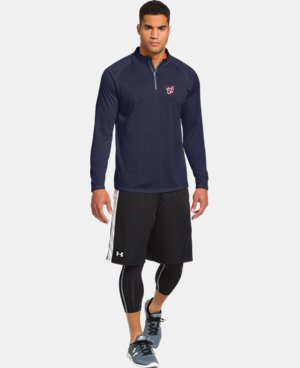 Men's Washington Nationals UA Tech™ ¼ Zip LIMITED TIME: FREE U.S. SHIPPING 1 Color $41.99