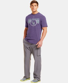 Men's Colorado Rockies Charged Cotton® Tri-Blend T-Shirt  1 C