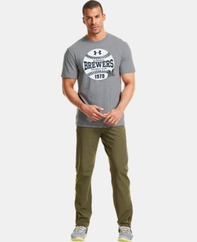 Men's Milwaukee Brewers Charged Cotton® Tri-Blend T-Shirt LIMITED TIME: FREE U.S. SHIPPING 1 Color $26.99