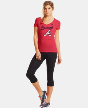 Women's Atlanta Braves Charged Cotton® Tri-Blend T  1 Color $26.99