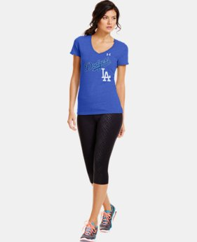 Women's Los Angeles Dodgers Charged Cotton® Tri-Blend T